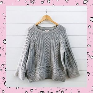 Sundance Touch Of Magic Cable Knit Sweater Wool L